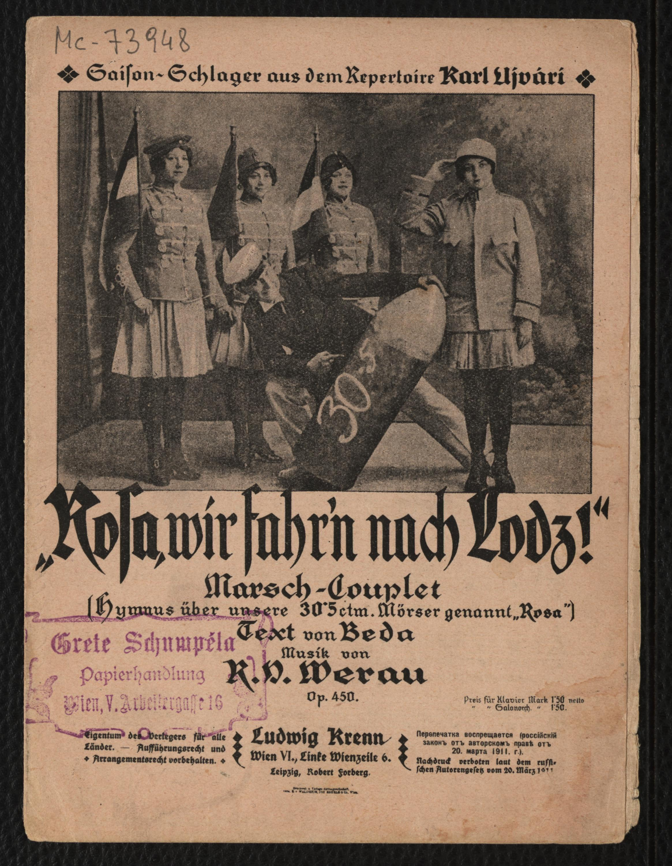 Objekt Des Monats Mai 2014 Musikdruck Rosa Wir Fahren Nach Lodz