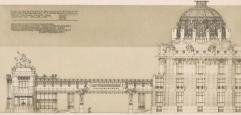 Entwurf von Otto Wagner zum Stadtmuseum