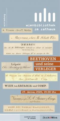 """""""Beethoven und seine Verleger"""""""