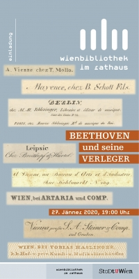 Beethoven und seine Verleger, Begleitveranstaltung