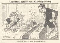 Karikatur in Kikeriki, 21.11.1920, © Wienbibliothek im Rathaus