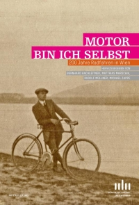 Buchcover: Schwarz-weiß-Photographie, Radfahrer am Donauufer