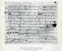 eine Seite aus der Notenhandschrift des Donauwalzers von Johann Strauß