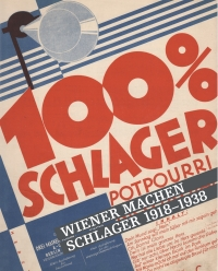 """farbenfrohes Cover mit der Aufschrift """"100% Schlager"""""""