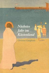 Buchcover: Farbzeichnung, Menschen am Meer mit Blick auf Pier