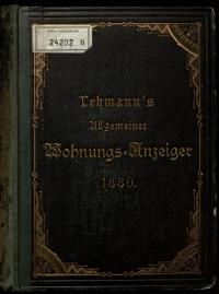mit Ornamenten verzierter Einband eines Wiener Adressbuches
