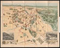 historischer Stadtplan von Wien, der vor allem die innere Stadt zeigt