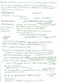 handschriftlich beschriebene Seite