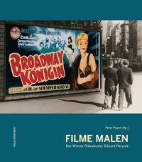 Buchcover: Photographie: zwei Männer gehen an einer Plakatwand mit einem Filmplakat vorbei