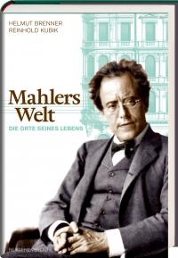 Buchcover: Portrait von Mahler, dahinter Gebäude