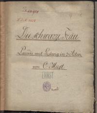 Titelblatt einer Notenhandschrift
