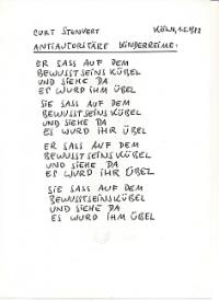 handschriftliches Gedicht