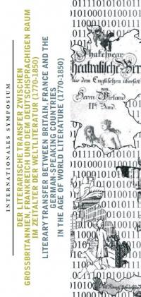 Montage: Textstellen aus Büchern und Szenen in Bibliotheken hinterlegt mit Nullern und Einsern