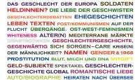 Stichwörter aneinandergereiht in verschiedenen Farben