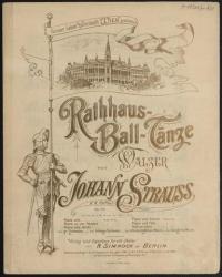 Buchcover: Notendruck, Rathausmann, Rathaus, Fahne mit Titel des Musikstücks