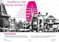 Einladung zum Symposion: pinkes Riesenrad, Häuserzeile