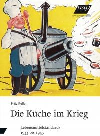 Buchcover: salutierender Koch neben Gulaschkanone