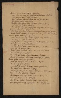 Seite mit handschriftlichem Text und Adressierung