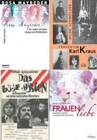 Collage aus vier Buchcovern von Hilde Schmölzer