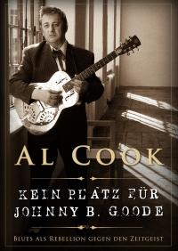 Buchcover: Schwarz-Weiß-Photographie eines Mannes mit Gitarre, weiße und zartgelbe Schrift