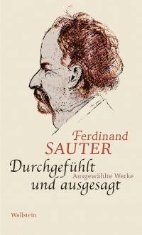 Buchcover zeigt eine Portraitzeichnung von Ferdinand Sauter