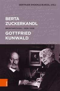 Buchcover zeigt die Montage zweier schwarz-weiß Fotografien von Berta Zuckerkandl und Gottfried Kunwald
