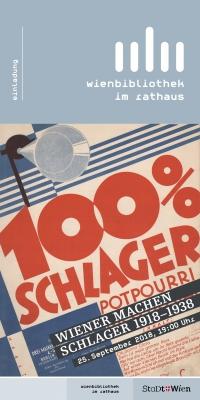 """Coversujet """"100% Schlager. Großes Potpourri. Wiener machen Schlager"""""""