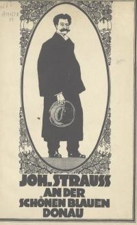 Zeichnung von Johann Strauss