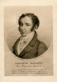 Portrait Gioachino Rossini, Lithografie von Godefroy Engelmann, HS WBR