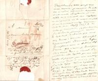 handgeschriebener Brief von Fürst Nikolaus Galitzin an Ludwig van Beethoven